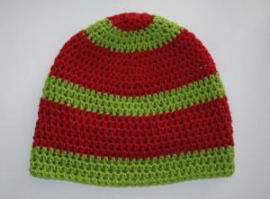 Boshi Mütze mit Blockstreifen Muster