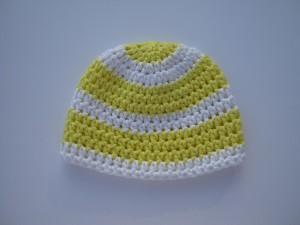 Häkel-Anleitung Baby Boshi Mütze mit Streifen aus MyBoshi Sommerwolle No2