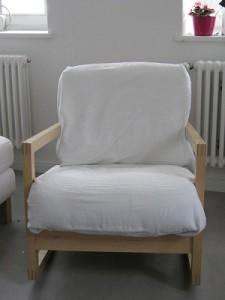 Ikea Lillberg Schaukelstuhl mit Decke statt Kissenbezüge