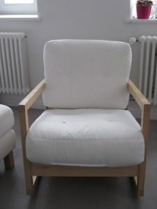 Ikea Lillberg Schaukelstuhl ohne Kissen Bezüge