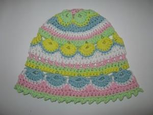 Häkelmütze ROMY für Mädchen aus MyBoshi Sommerwolle