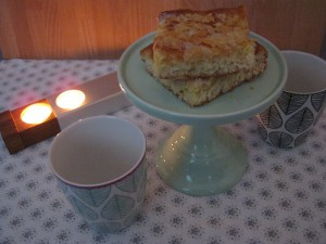 Backen Butterkuchen - Aspegren Tassen - Miss Etoile Tortenplatte - Adventsschieber Slawinski