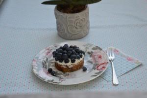 Leckeres zum Kaffee: Kleine Blaubeertorte mit Schoko-Nusskuchen-Teig