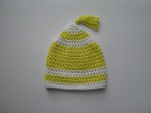 Häkelanleitung Baby Mütze - Zipfelmütze - Erstlingsmütze häkeln