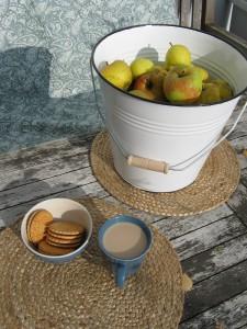 Äpfel Schöner von Boskoop - Ernte im Emaille-Eimer von Ib Laursen