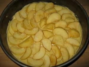 Apfelkuchen mit Zimt-Guss - Schritt 1