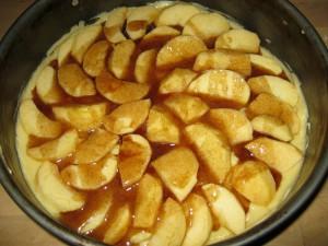 Apfelkuchen mit Zimt-Guss - Schritt 2