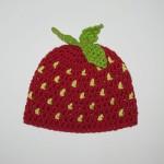 Häkelanleitung Erdbeermütze für Babys