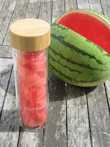 Wasserflasche von Bämboo für Fruit-infused Water - Wasserflasche aus Glas